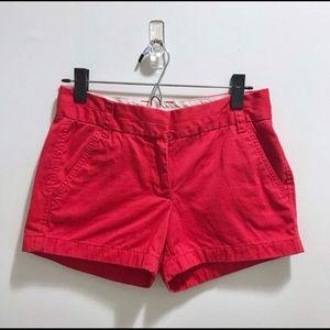 J Crew Red Chino Shorts sz 0